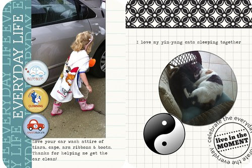 Project Life, Week 8 page 2 closer look- carwash and cats
