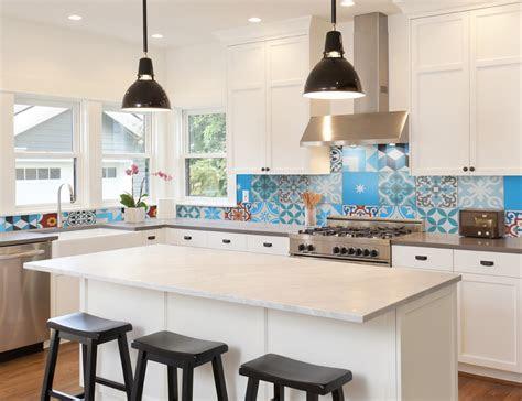 top  patchwork tile backsplash designs  kitchen