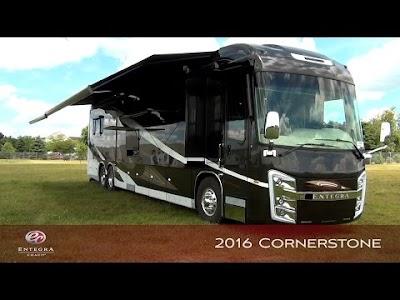 RV Videos: Entegra Cornerstone, Heartland RV Plant Tour, Leisure Travel Vans Unity Twin Bed, & Open Range Ultra Lite