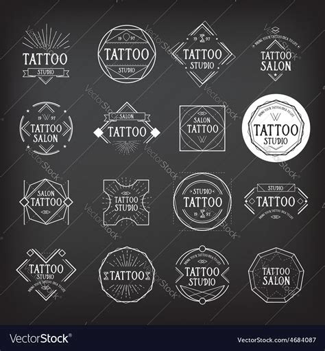 tattoo studio logo design royalty  vector image