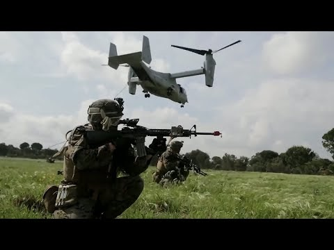 Portuguese Marines Conduct Air Assault Training Together With US Marines