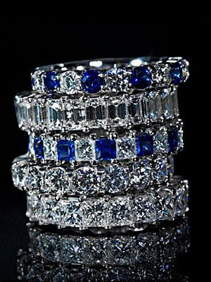 Diamonds & Sapphires-these rings are totally awesome...and I am not a fan of diamonds!!! Beautiful!!