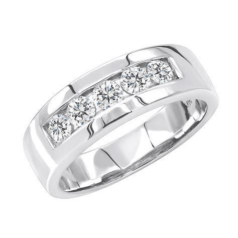 5 Year Anniversary Ring 14K Gold 5 Stone Diamond Wedding