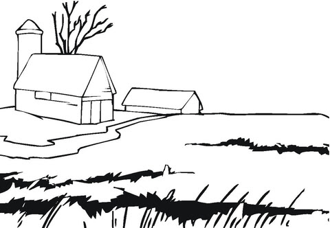 farmhouse coloring page  free printable coloring pages