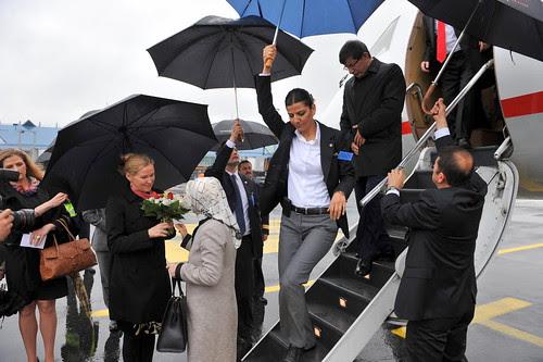 Türgi välisminister saabub ühes abikaasaga Lennart Meri lennujaama by Estonian Foreign Ministry
