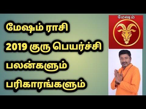 மேஷம் ராசி 2019 குரு பெயர்ச்சி பலன்களும் பரிகாரங்களும் | வாமணன் சேஷாத்ரி