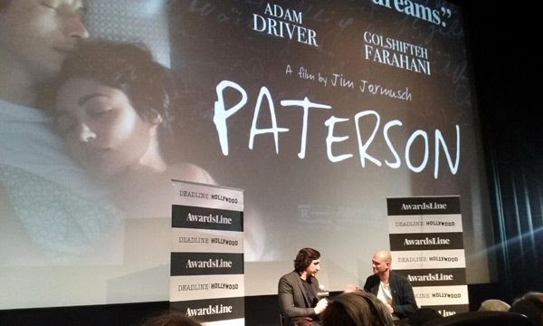 Adam Driver does a Q&A session for PATERSON at Landmark Theatres in west Los Angeles...on November 14, 2016.