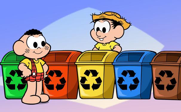 Cascão e Chico Bento entendem que a solução para salvar o planeta está em, reduzir, reutilizar e reciclar (Foto: Divulgação/ TV Globo)