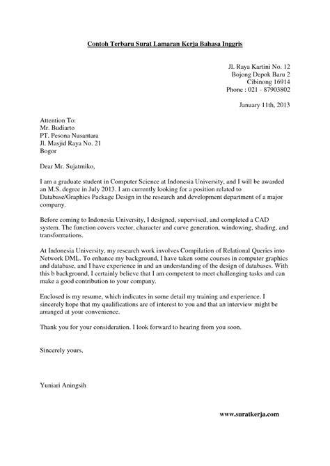 Contoh Surat Lamaran Kerja Customer Service Dalam Bahasa Indonesia Kumpulan Kerjaan