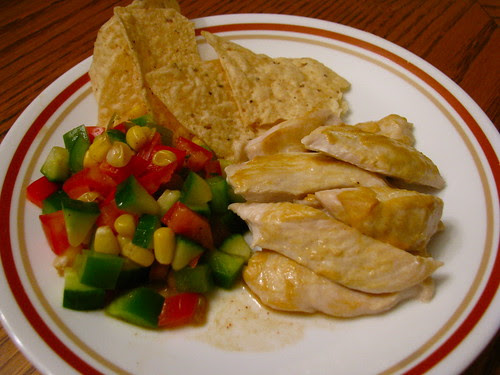 Dijon Chicken with Corn Salsa