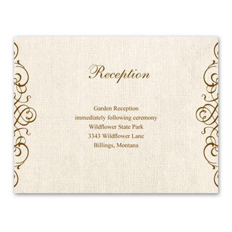 rustic love reception card   wedding enclosure cards at