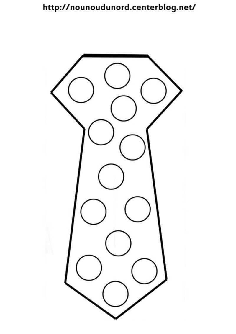 cravate gommettes 1