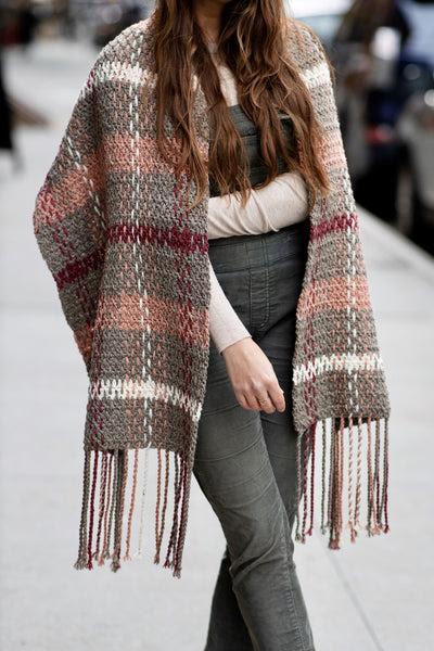 Crochet Kit - Rosebridge Plaid Blanket Scarf