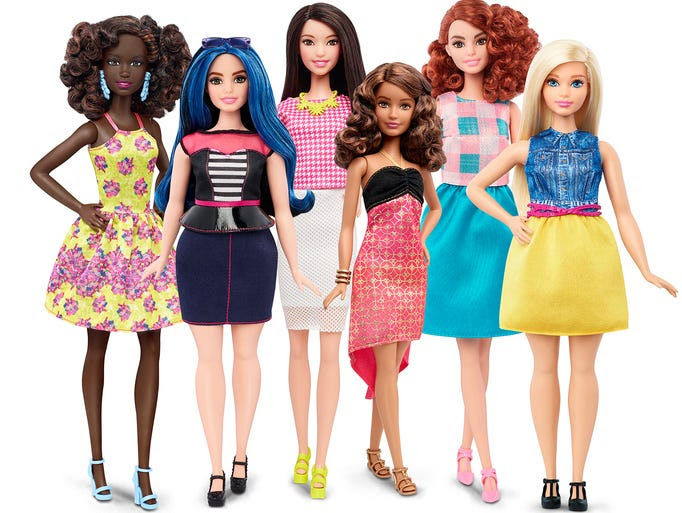 Barbie announced the expansion of its Fashionistas