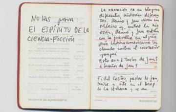 Notas de Roberto Bolaño para su novela 'El espíritu de la ciencia-ficción'.