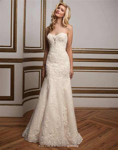 Justin Alexander 8811 Fit n flare Sweetheart Lace Wedding