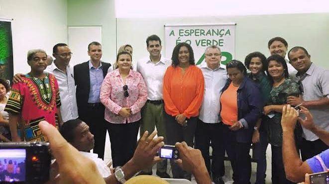Rose Sales, Adriano Sarney e os membros do PV em São Luís