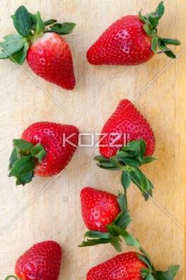 Close-Up Shot Of Strawberries