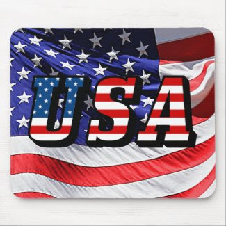 USA - American Flag Mouse Pad