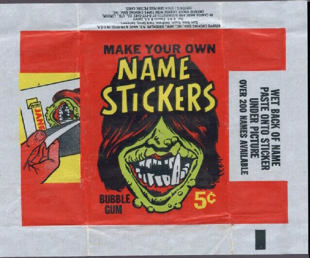 Name Stickers (US Wrapper)