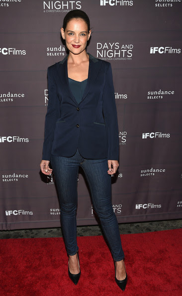 """Katie Holmes Actress Katie Holmes attends the premiere of """"Days And Nights"""" at the IFC Center on September 25, 2014 in New York City."""