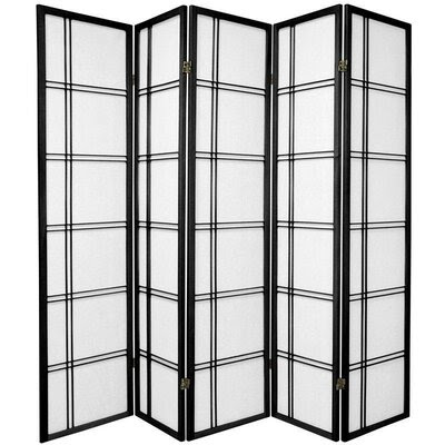 Oriental Furniture Double Sided Double Cross Room Divider in Black ...