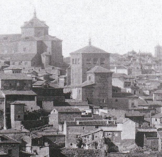 Iglesia de San Torcuato hacia 1857. Detalle de una fotografía de Ferrier & Soulier