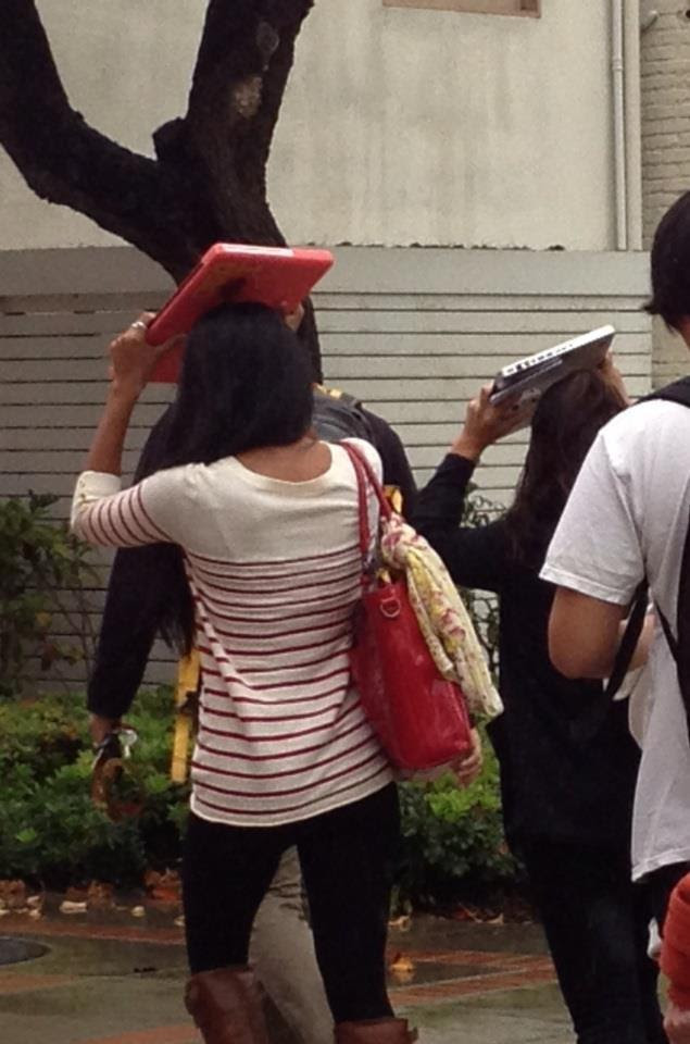 22 -  Wait... this is not my umbrella!