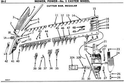 29 Ford 501 Sickle Mower Parts Diagram