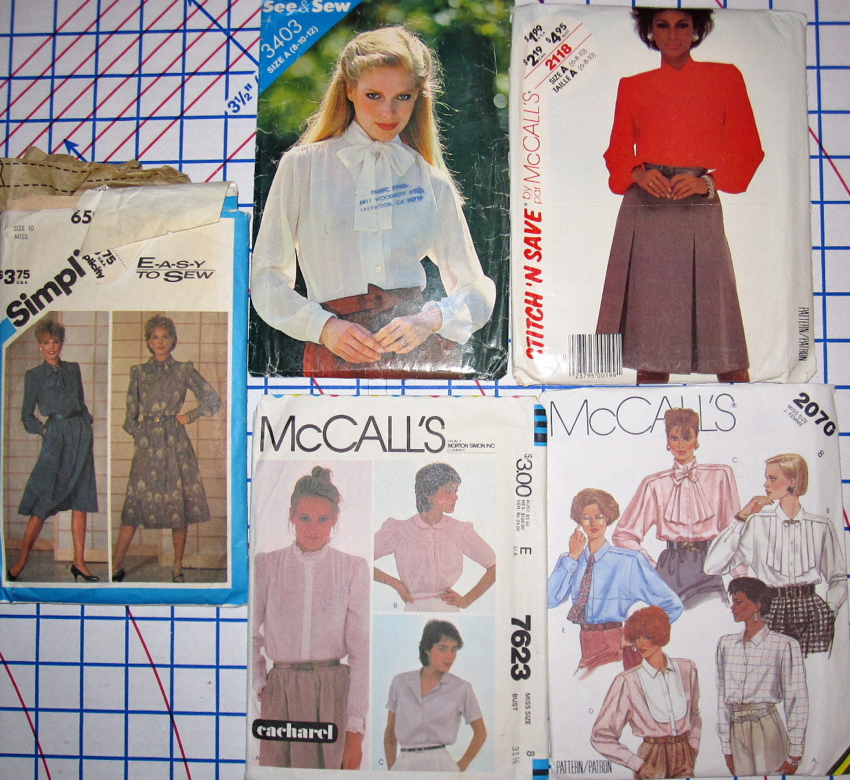 80s Tie Neck & Romantic Blouses