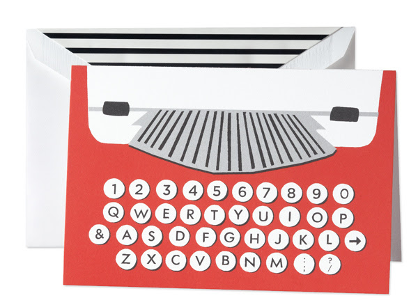 Kate Spade Typewriter Stationary