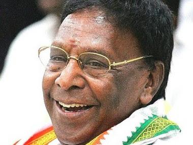 File image of Puducherry chief minsiter V Narayanswamy. Image courtesy: Twitter@VNarayanasami