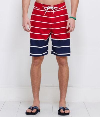 Adam: Mens Swimwear: Nautical Stripe Board Shorts for Men - Vineyard Vines