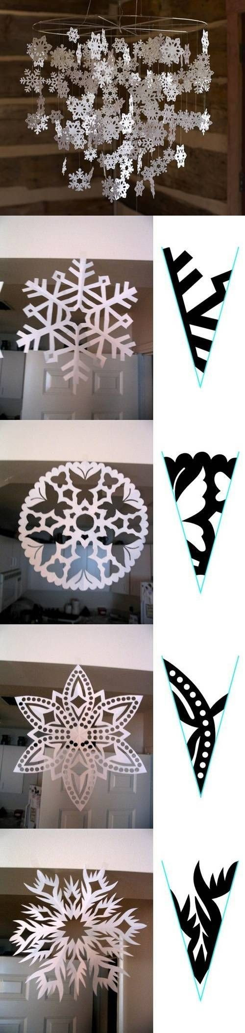 DIY Snowflake Paper Pattern DIY Projects #DIY #craft #crafts #paper #snowflake #winter #Christmas #decor #decorate #decoration #snow #holiday #holidays #Xmas