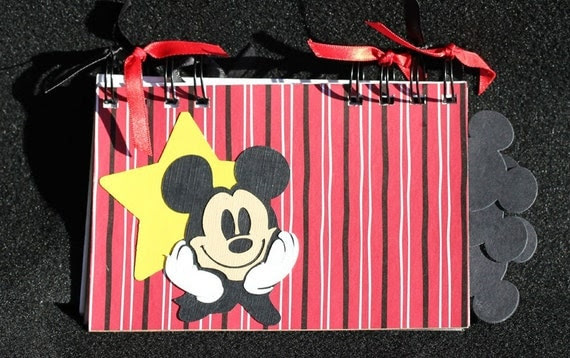 Handmade DISNEY Autograph Book - MICKEY Cover