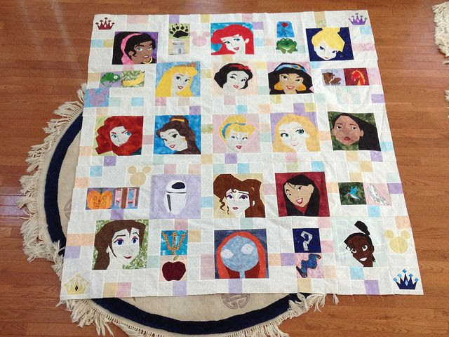 Paper piecing Princess Disney quilt photo only Princess patterns on fandom in stitches