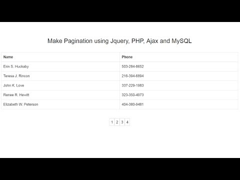 Make Pagination using Ajax with Jquery, PHP and MySQL   Webslesson