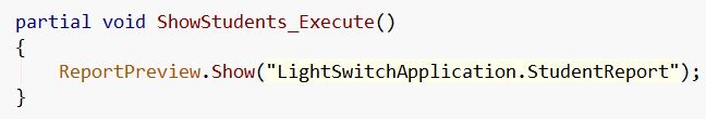 LightSwitch Code