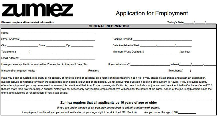 Job Application Form For Vans on general employment application form, credit application form, vans off the wall, vans job interview, vans employment application form,