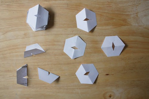 Step 5: Cut Little Diamond Cut-outs