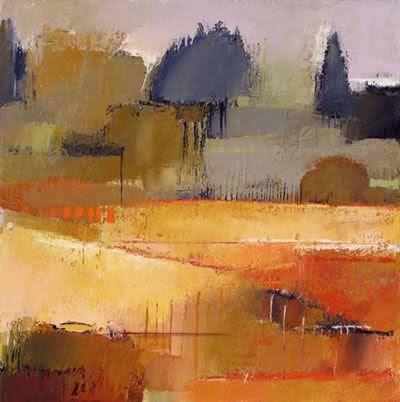 "landscape autumn warm colors ""Bay Farm 8"" by Irma Cerese"