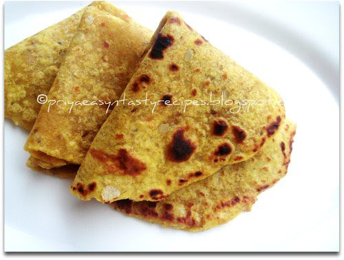Sweet potato & Oats Paratha