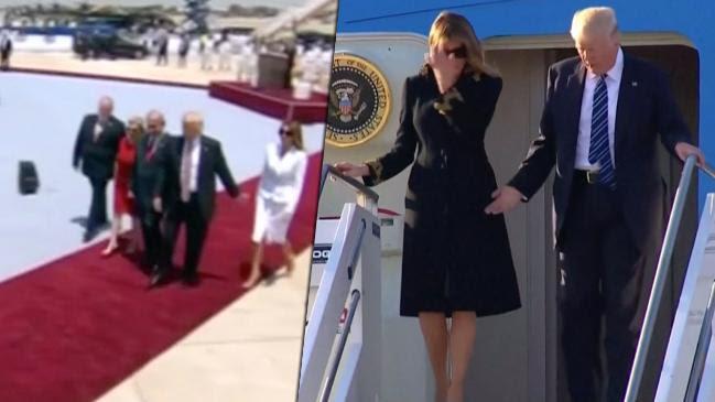 Melania Trump will nicht Händchen halten