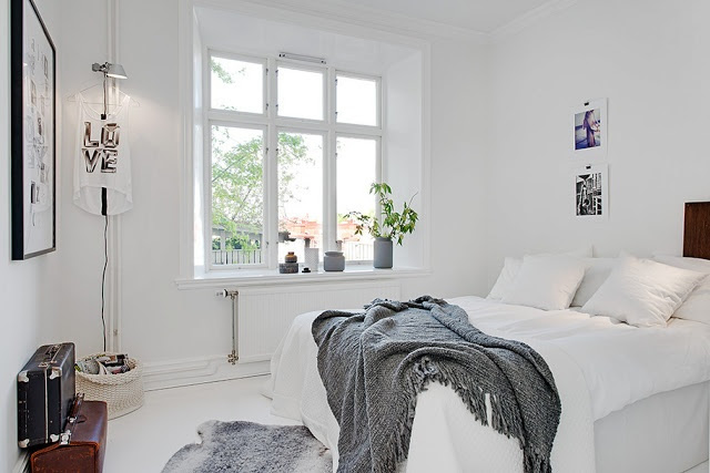 Grey and white inspiration bedroom