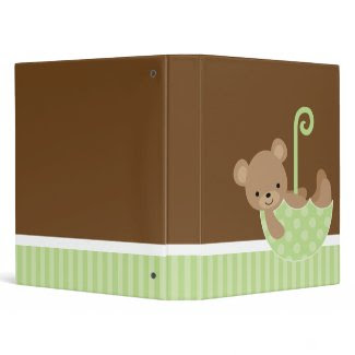 Bear in Umbrella Photo Book binder