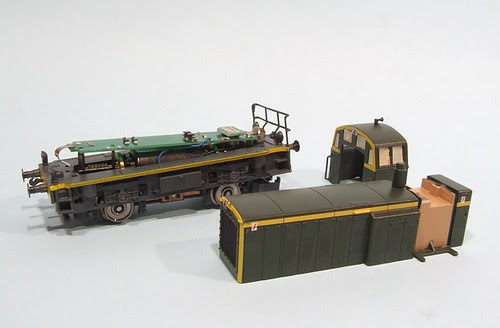 Dismantled loco