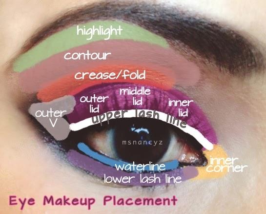 Nature S Eye Eye Makeup Placement Diagram Of Eye Areas