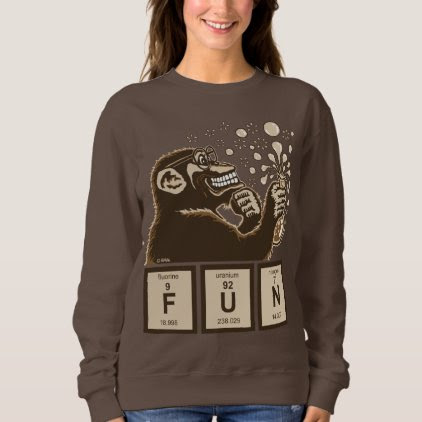 Chemistry monkey discovered fun sweatshirt