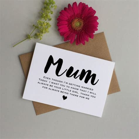 Card For Mum On Your Wedding Day. Wedding Card For Mum. To