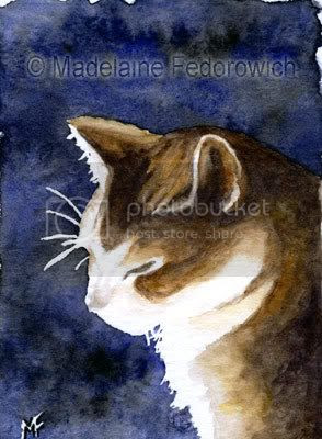 Content Cat ACEO